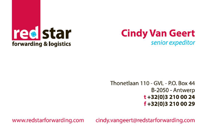 Call or mail Cindy Van Geert directly